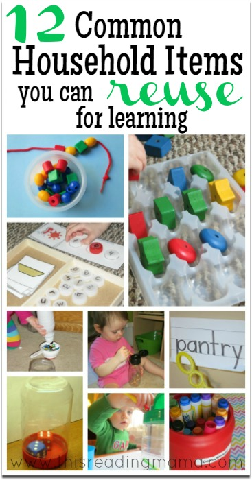 12 Common Household Items You Can Reuse for Learning - This Reading Mama