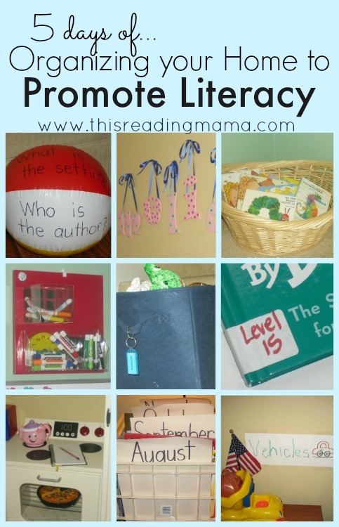 5 Days of Organizing Your Home to Promote Literacy | This Reading Mama
