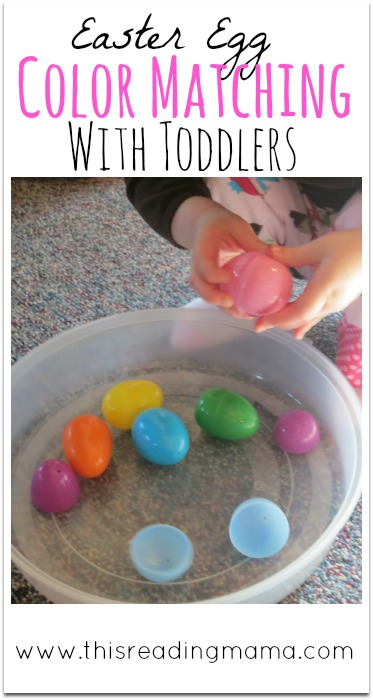 Easter Egg Color Matching With Toddlers | This Reading Mama
