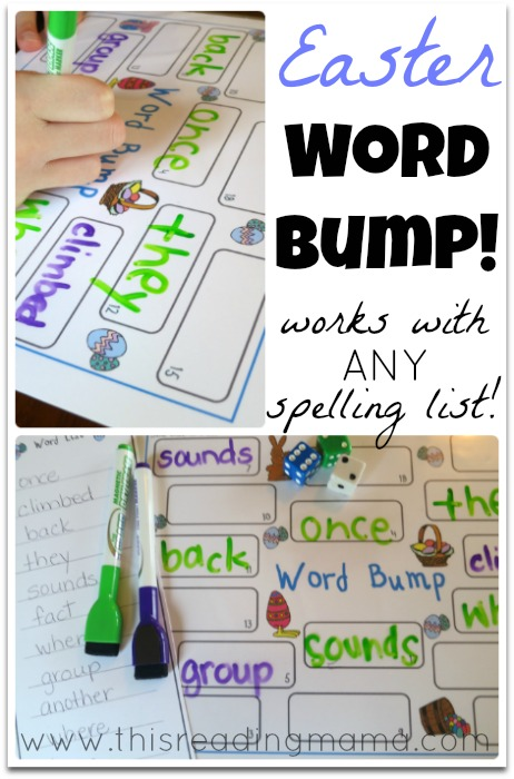 FREE Easter Word Bump! ~ works with ANY spelling list! | This Reading Mama