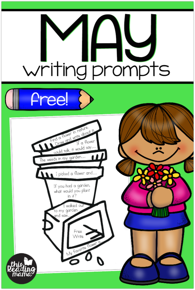 Free May Writing Prompts for K-2 Learners - This Reading Mama