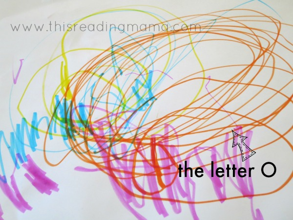 scribbles by a 2 year old