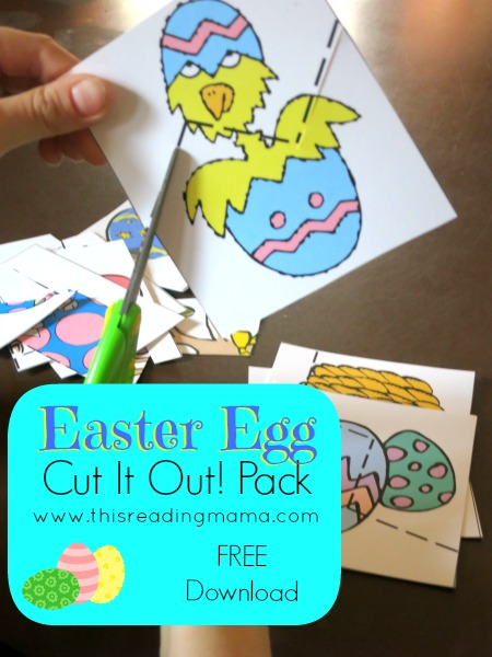 FREE Easter Egg Fine Motor Work Cut it Out! Pack | This Reading Mama