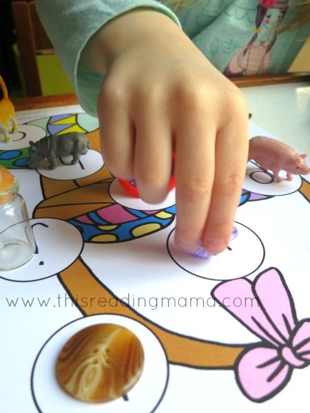 matching beginning letter sounds game for Easter