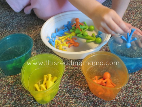 color sorting cups
