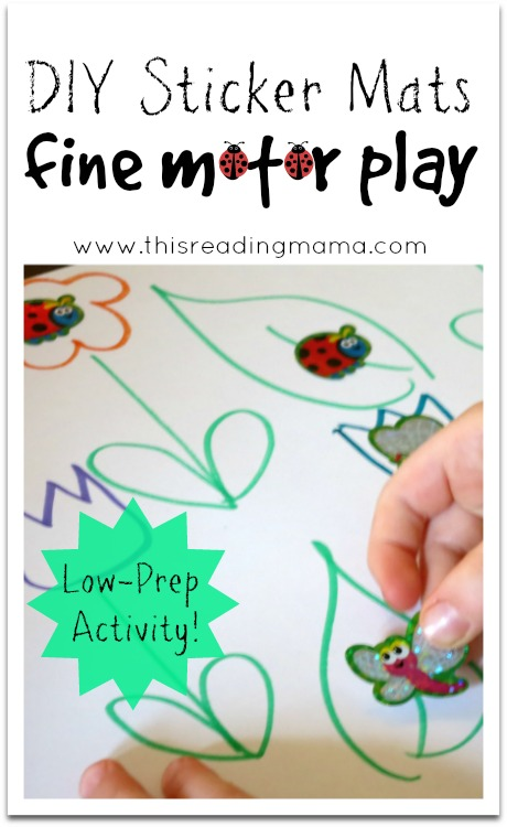 DIY Sticker Mats for Fine Motor Play