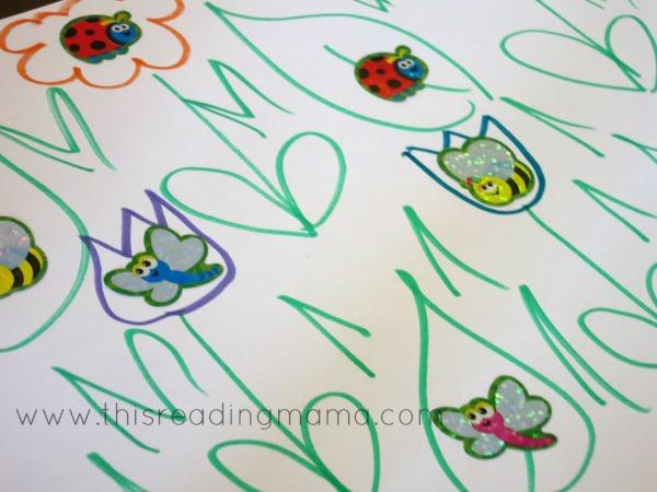 ladybug diy sticker mat
