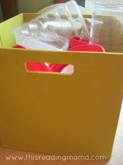 storage bin for containers