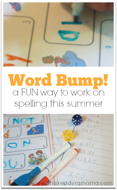 FREE Summer Word Bump  ~ This Reading Mama