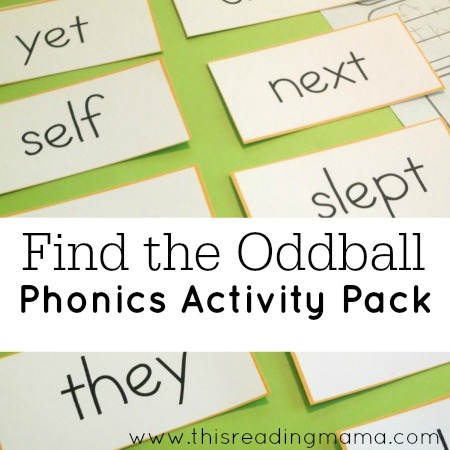 Find the Oddball Phonics Activity Pack {FREE} - This Reading Mama