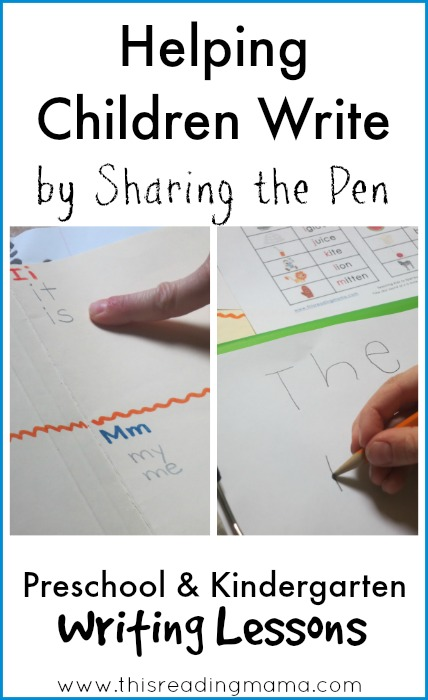 Helping Children Write by Sharing the Pen | This Reading Mama
