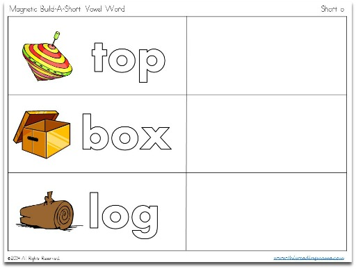Magnetic Build-a-Short Vowel level 1