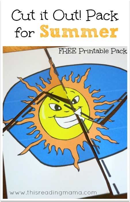 FREE Summer Cut it Out Pack - This Reading Mama