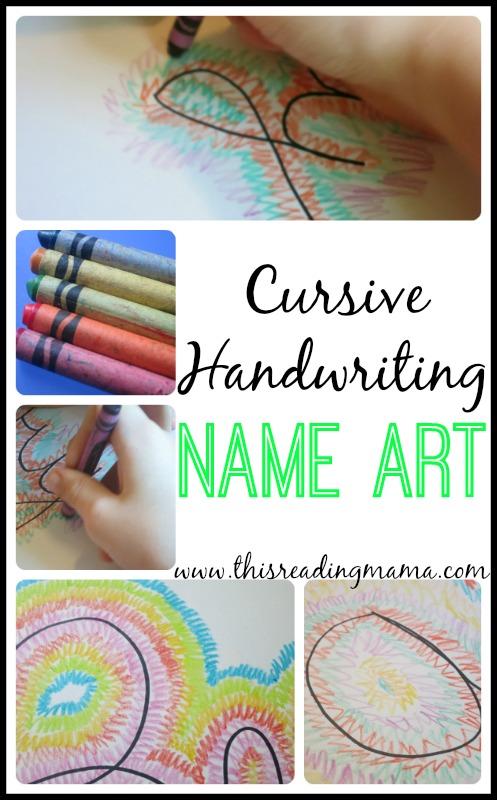 Cursive Handwriting Name Art - This Reading Mama