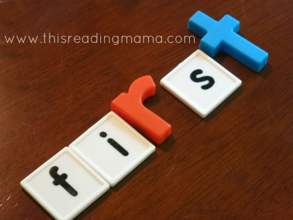 spelling words from letters tiles and magnetic letters
