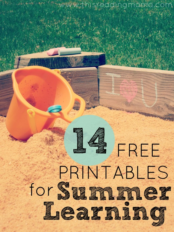 14 Free Printables for Summer Learning | This Reading Mama