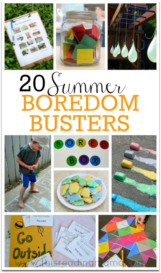20 Summer Boredom Busters This Reading Mama