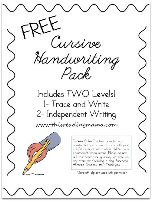 FREE Cursive Handwriting Worksheets – Cursive Writing Worksheet