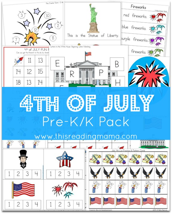 FREE 4th of July Learning Pack {for Pre-K/K}