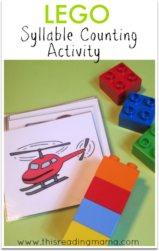 LEGO syllable counting activity - This Reading Mama