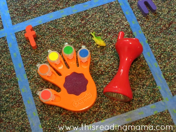 clean up using beginning letter sounds