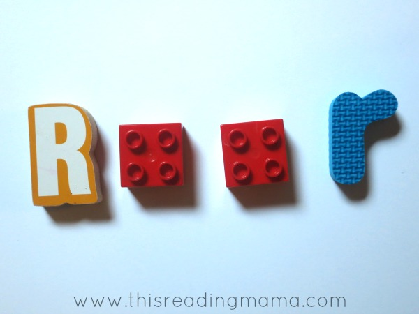 matching upper and lower case with LEGO bricks