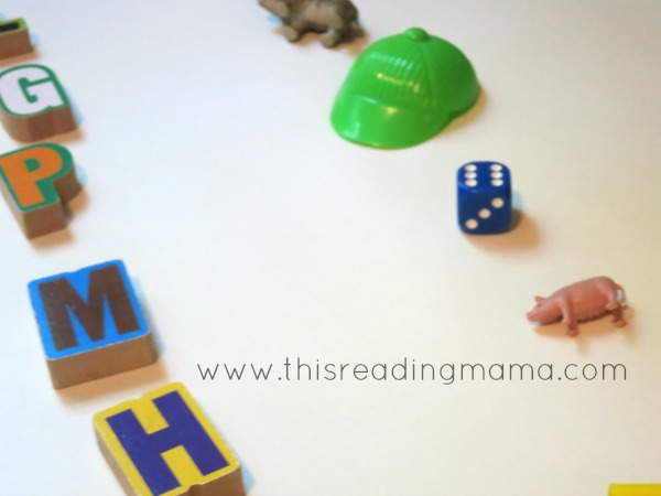 setting up the alphabet matching game