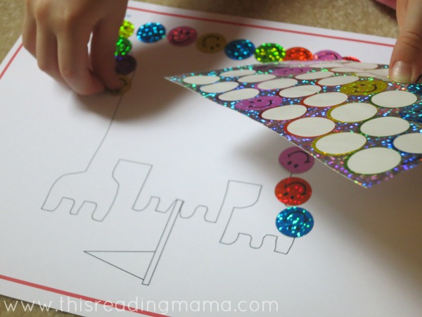sticker play while reading aloud