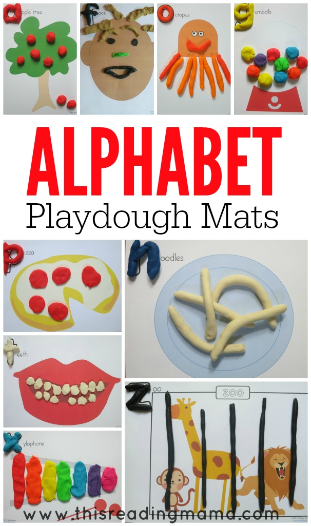 Alphabet Playdough Mats- This Reading Mama