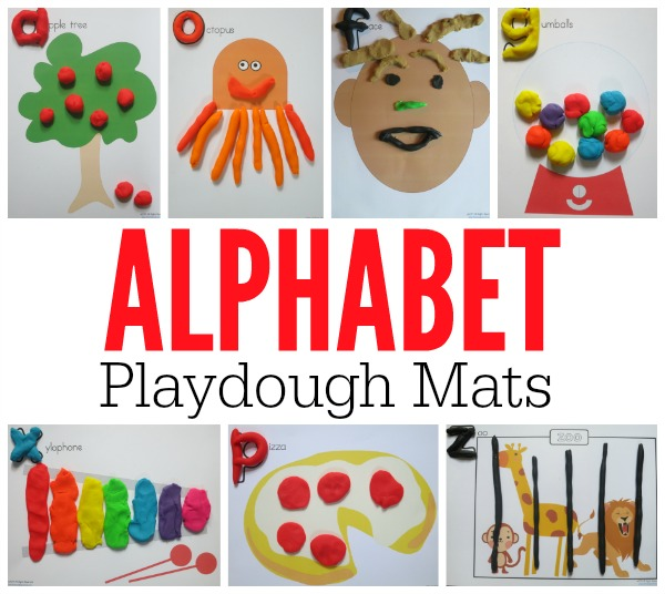 Alphabet Playdough Mats (FREE Printable Mats)