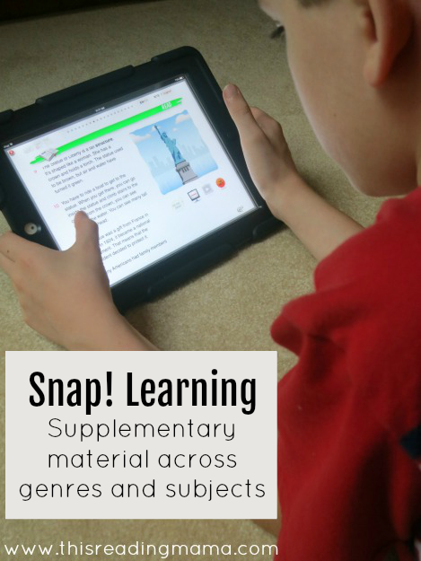 Snap Learning has reading material across different genres and subjects