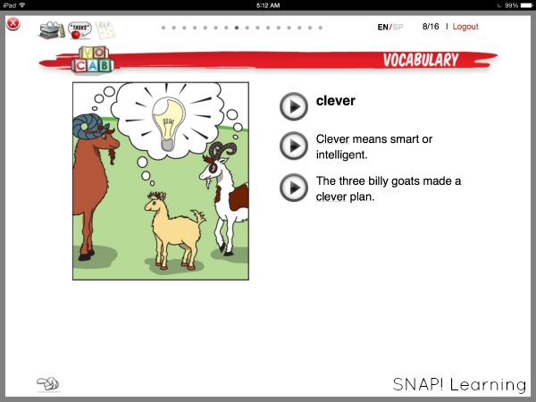 improve comprehension by introducing vocabulary
