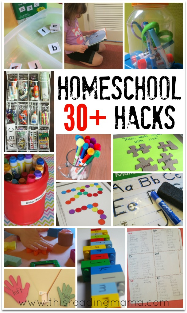 30+ Homeschool Hacks - save money time and energy This Reading Mama