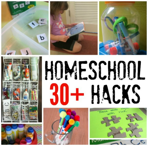 30+ Homeschool Hacks - save money time and energy - This Reading Mama