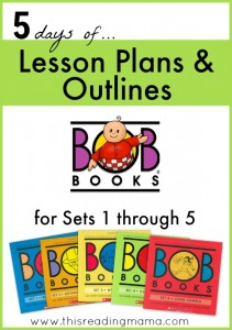 FREE Lesson Plans and Outlines for BOB Books - This Reading Mama