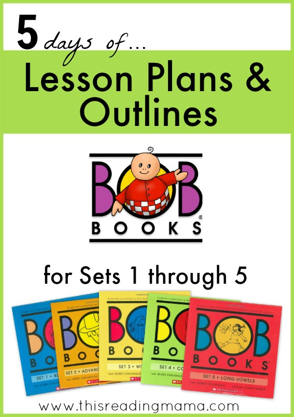 free lesson plans and outlines for bob books set 1 5