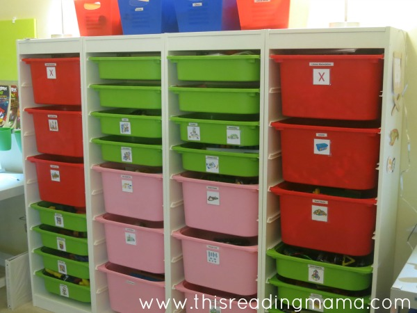IKEA TROFAST system in homeschool room