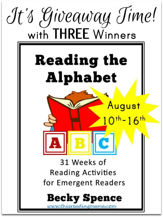 Reading the Alphabet Giveaway - THREE Winners! | This Reading Mama