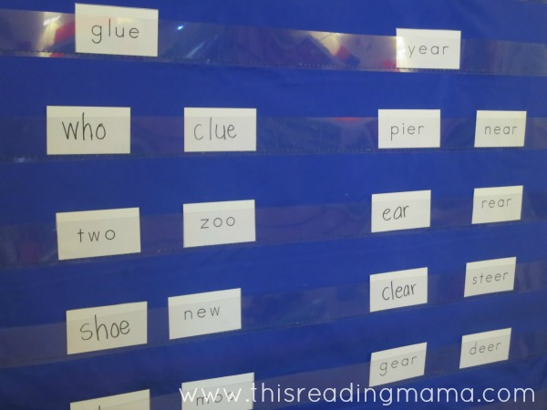 find and sort the rhyming words from poetry
