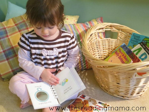 give toddlers their own bin of books