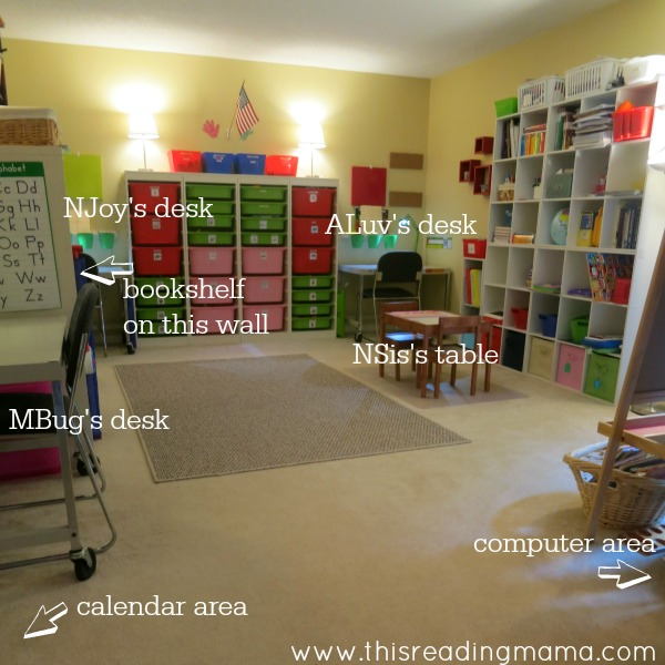 photo of homeschool room