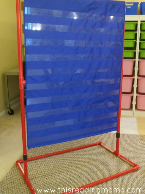 pocket chart stand out of pvc piping