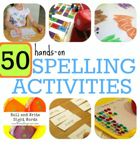 50 Hands-On Spelling Activities