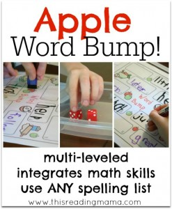 Apple Word Bump Spelling Game - This Reading Mama