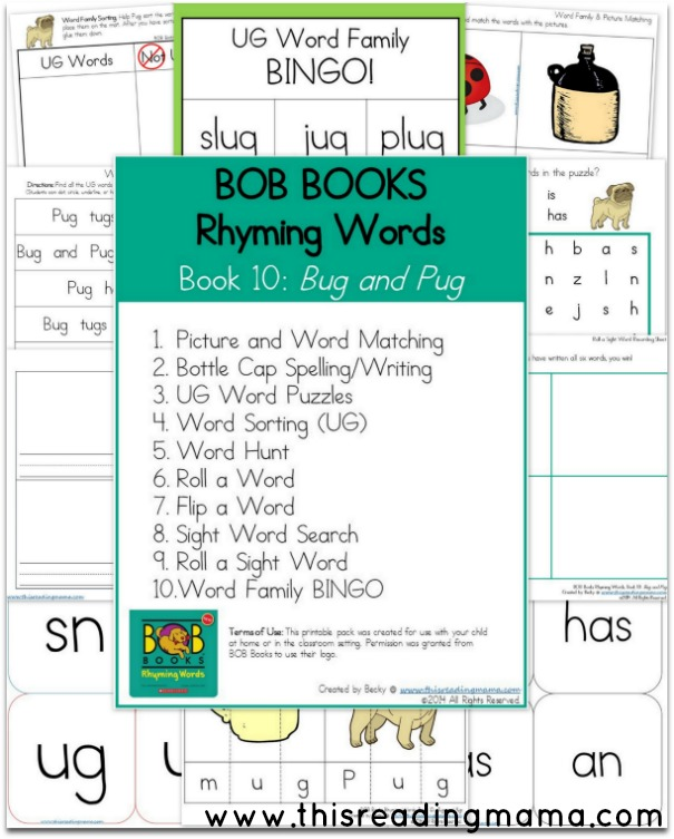BOB Books- Rhyming Words -Book 10