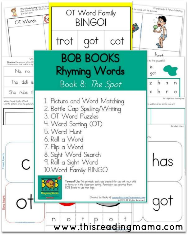 BOB Books - Rhyming Words -Book 8