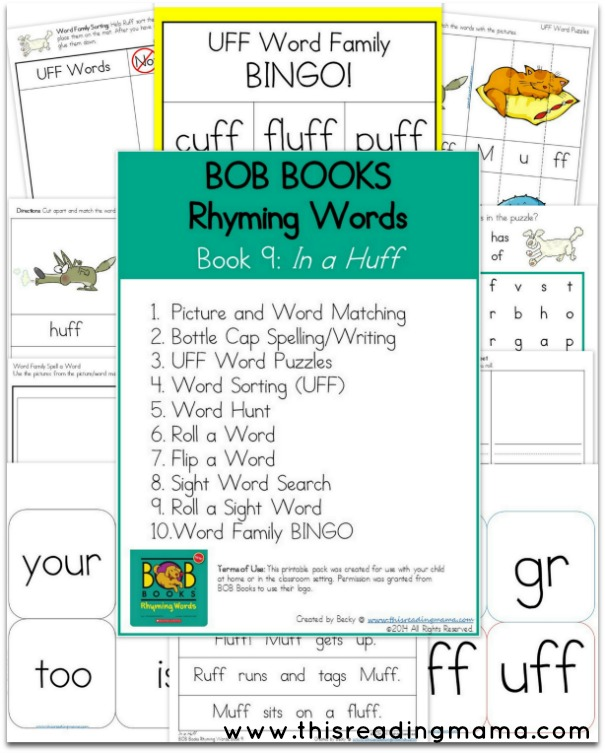 BOB Books- Rhyming Words -Book 9