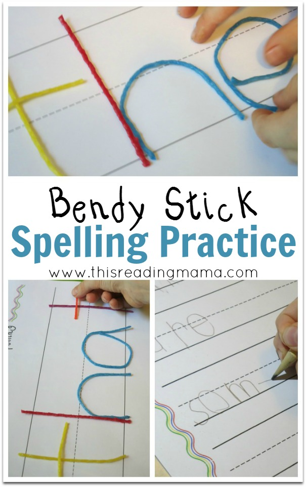Bendy Stick Spelling Practice