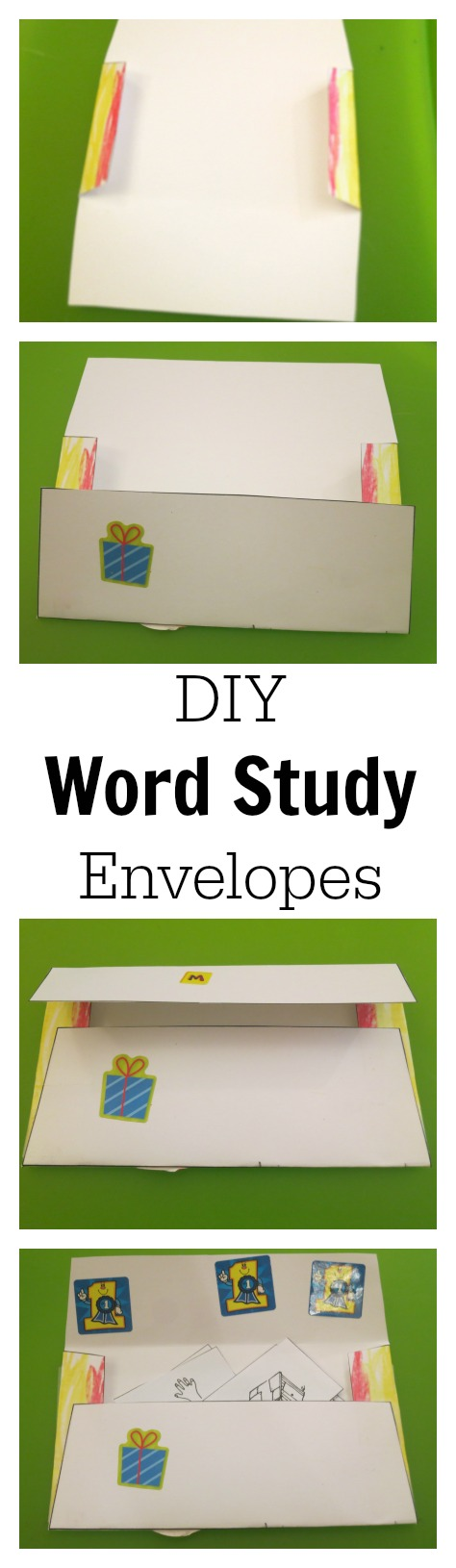 DIY Word Study Envelopes for Organization of Words-Pictures