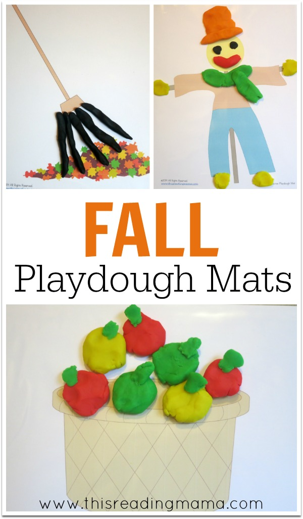 FREE Fall Playdough Mats - This Reading Mama